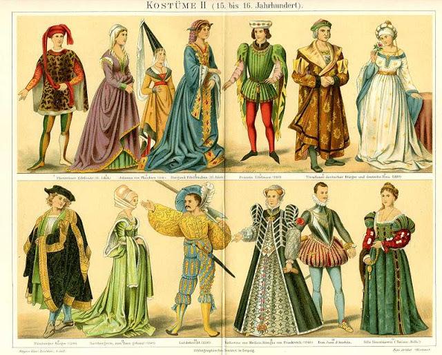 vestuário medieval