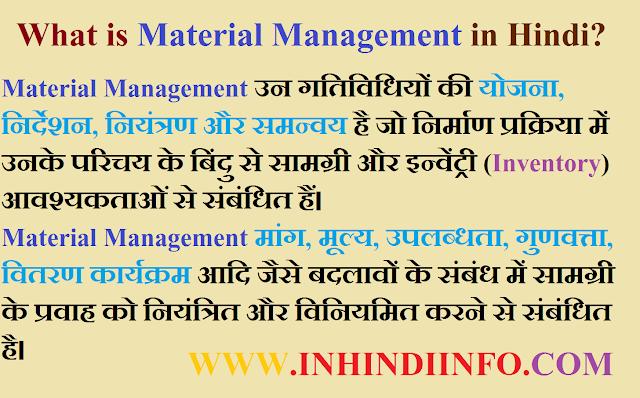 Materials Management Kya Hai? In Hindi