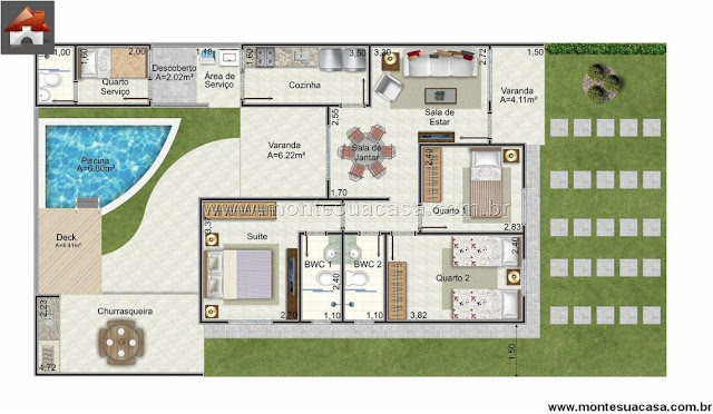plan with 100m2