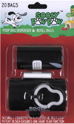 Blister pack of Sooty Paw Paw Dog poop bags