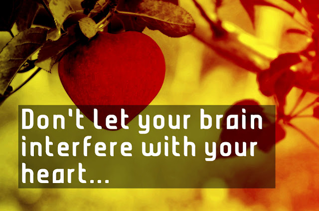 Don't let your brain interfere with your heart Albert Einstein inspiring messages
