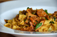HOME-MADE TAGLIATELLE WITH CHANTERELLE MUSHROOMS