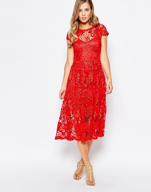 body frock red lace dress, body frock poppy dress, body frock red dress, red flower overlay dress,