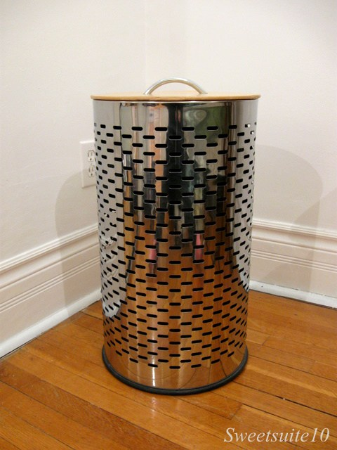 Stainless steel laundry basket