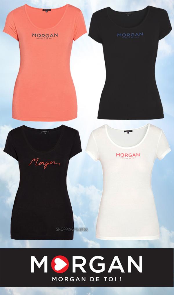 T-Shirt femme manche courte col rond stretch MORGAN