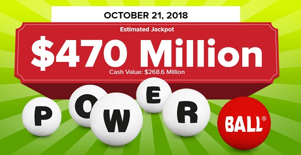 Powerball Winning Numbers October 21 2018