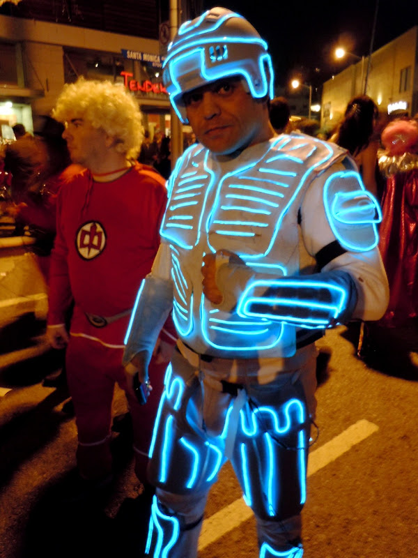 West Hollywood Halloween Carnaval Tron costume 2010