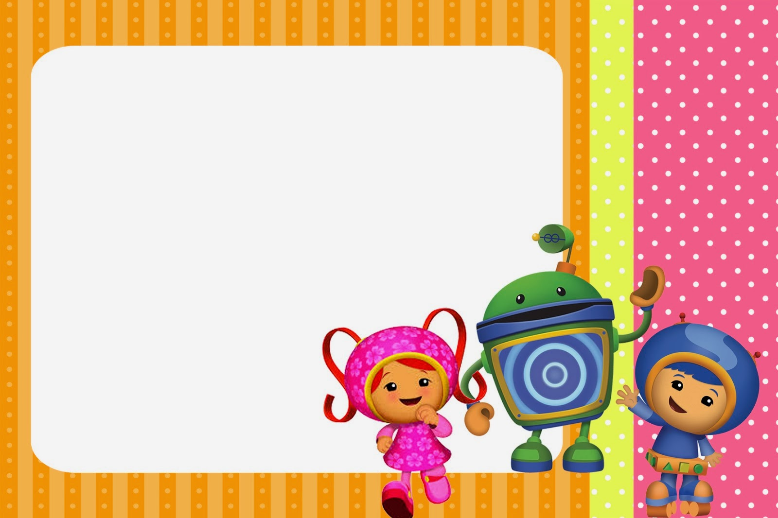 Umizoomi Free Printable Invitations.