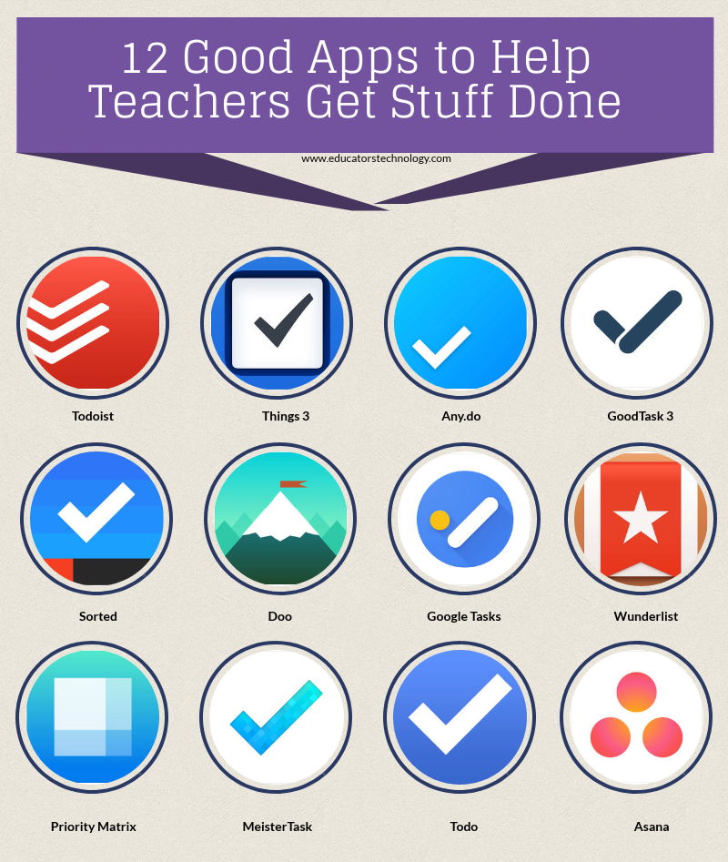 12 Good Apps to Help Teachers Get Stuff Done | Educational