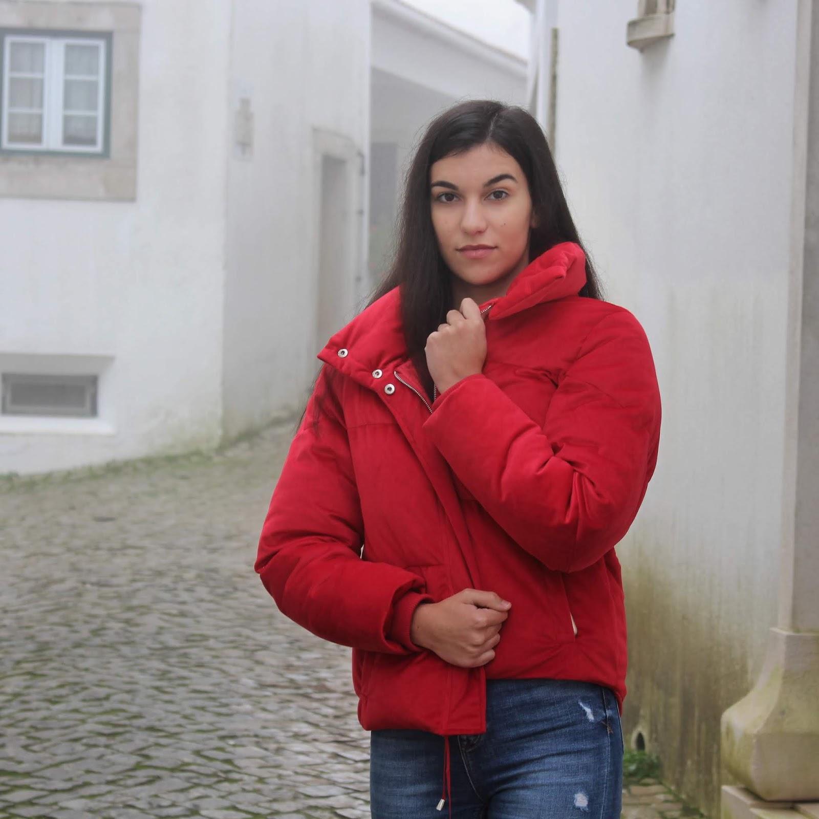Onde comprar puffer jacket vermelho?