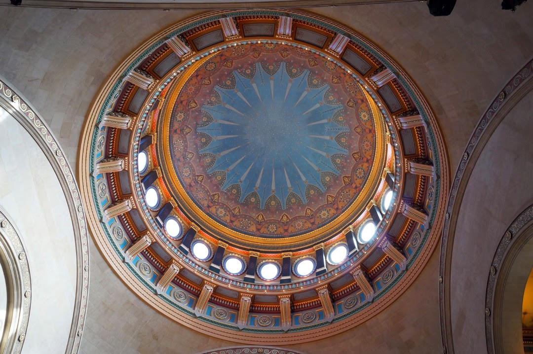 Interior shot of main dome of Williamsburg Savings Bank