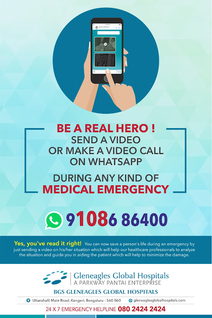 BGS Gleneagles Global Hospitals launches emergency whatsapp number