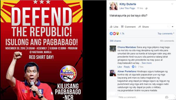 Veteran Journalist Raissa Robles Apologizes To Kitty Duterte About Pro-Duterte Rally Post On Her Facebook Fan Page