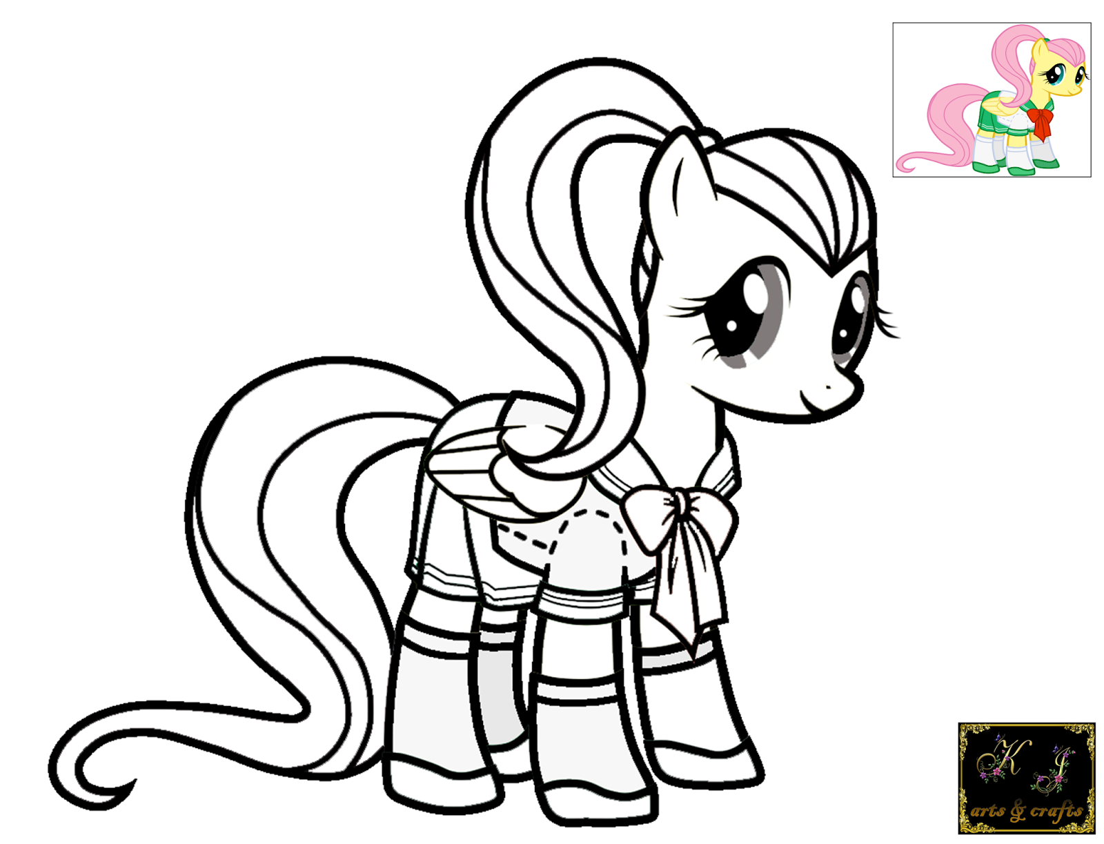 Kj coloring pages fluttershy for My little pony fluttershy coloring pages