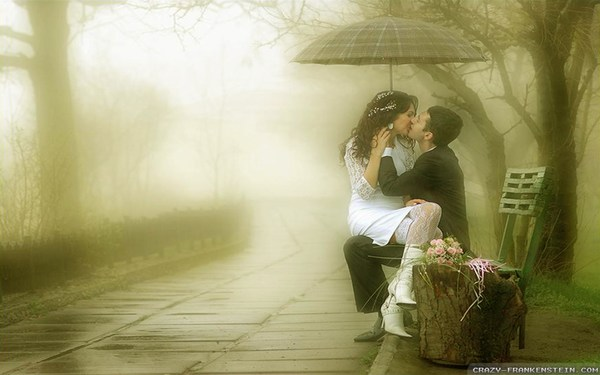 Romance in Rain HD Wallpapers