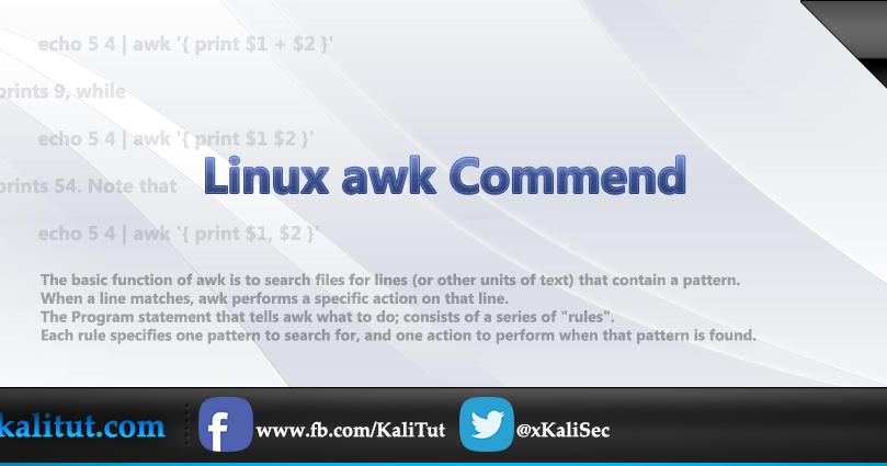 Linux awk Command