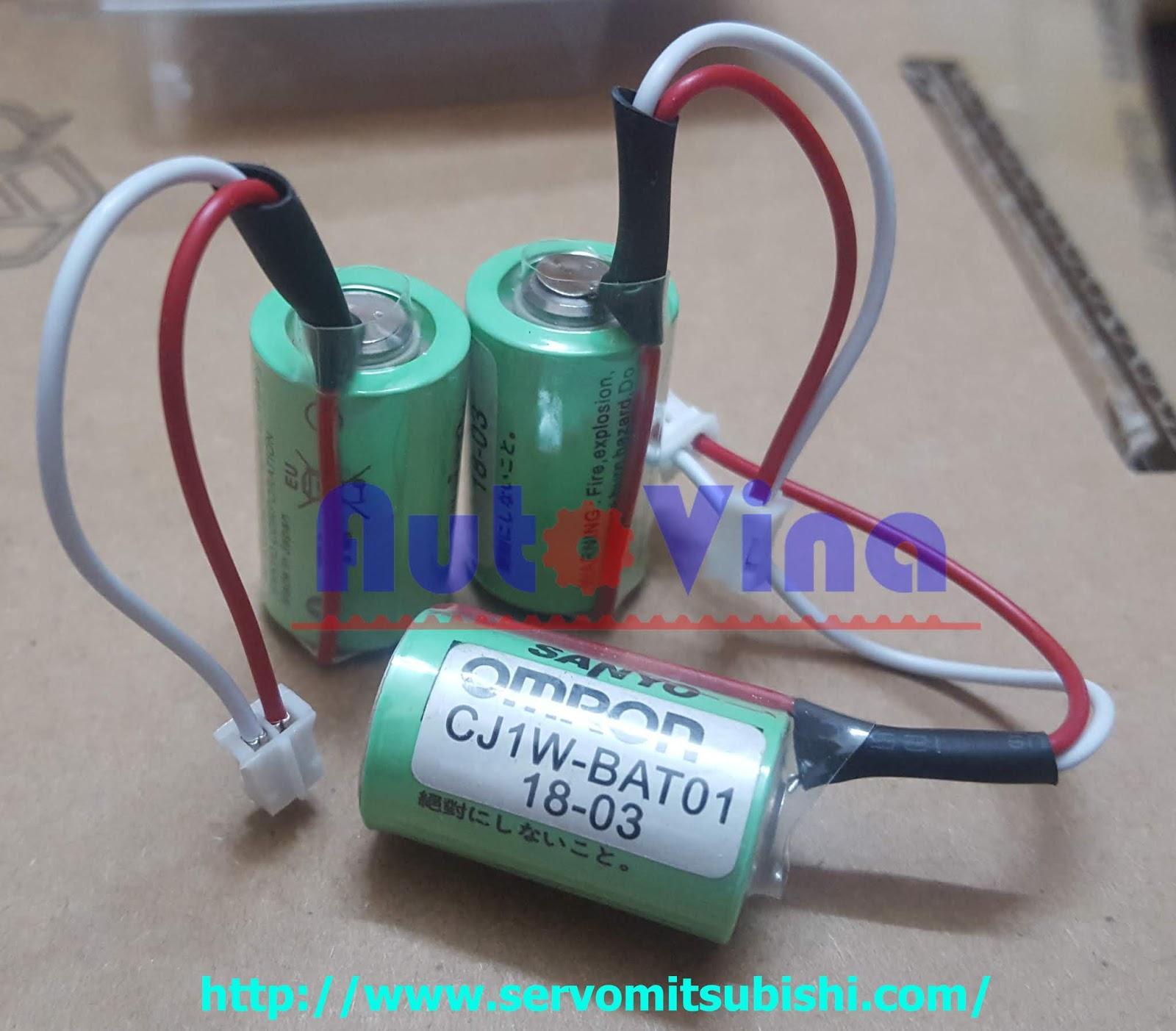 Đại lý bán pin Battery dùng cho PLC, pin Lithium SANYO dùng cho PLC Omron model CJ1W-BAT01