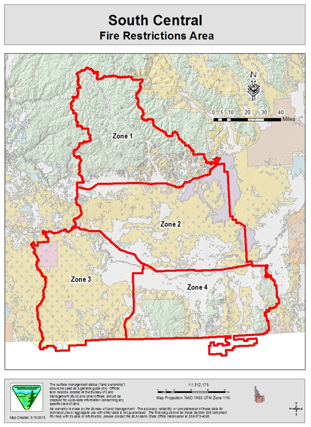 Idaho Fire Information Fire Restrictions Expand To New Areas In - Idaho public lands map