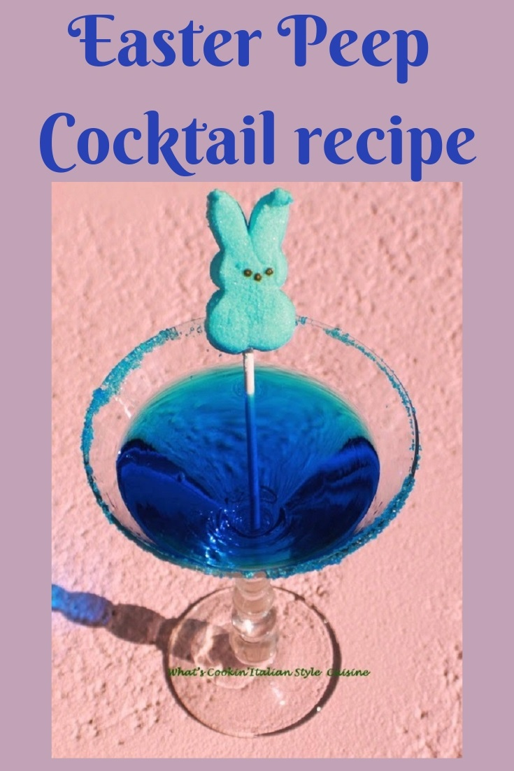 this is a cocktail made at Easter with Peeps and tequila