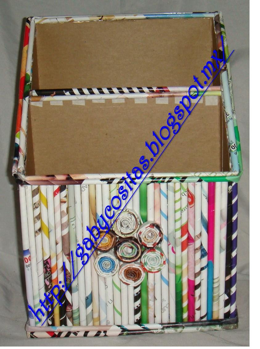 Decorar Caja Carton Periodico