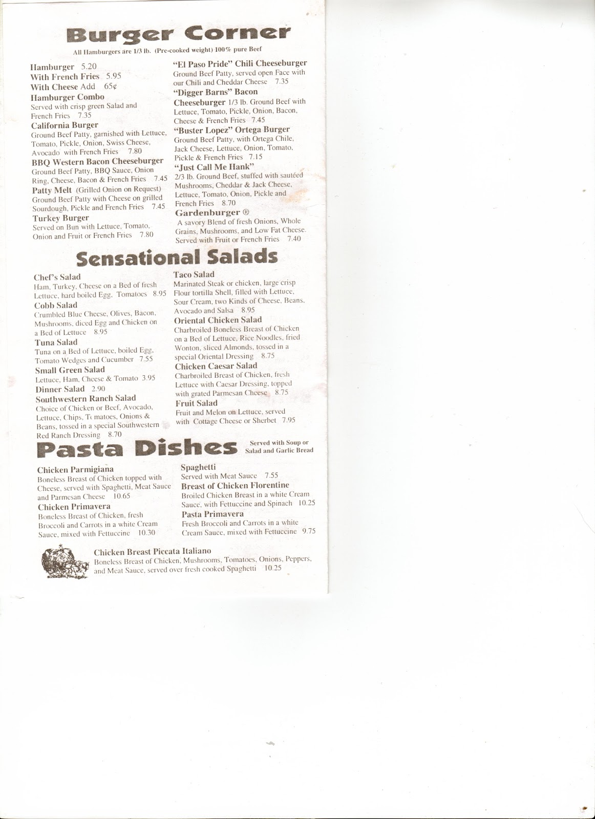 First Family Restaurant Simi Valley Menu