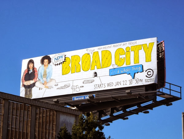 Broad City season 1 Comedy Central billboard