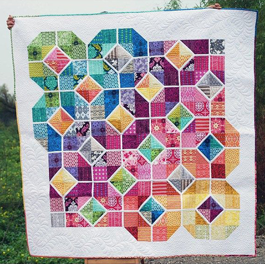 Leaded Glass Quilt Free Pattern Designed by Tracey Jacobsen of Tracey Jay Quilts for AQS