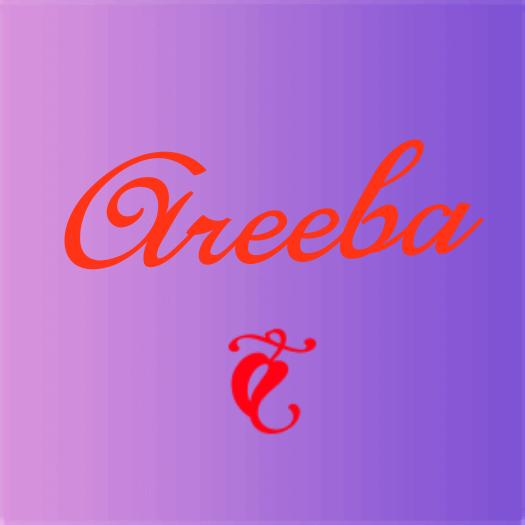 areeba name stylish