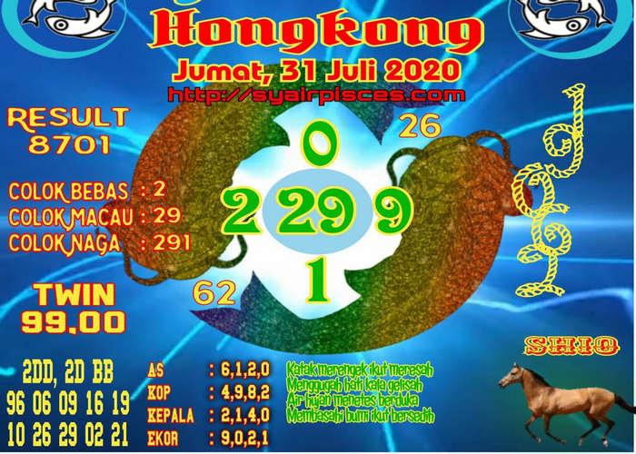 Kode syair Hongkong Jumat 31 Juli 2020 42
