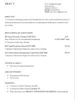 final year engineering student resume format naukri2helps