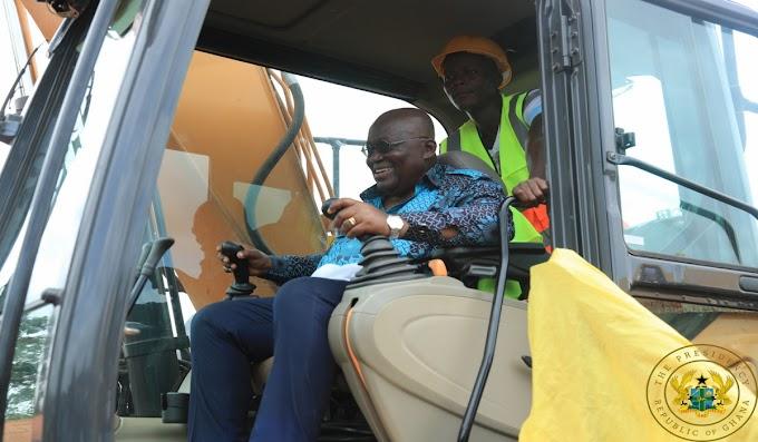 President Akufo-Addo Cuts Sod For 24.3km Kojina – Chirano-Akoti Road