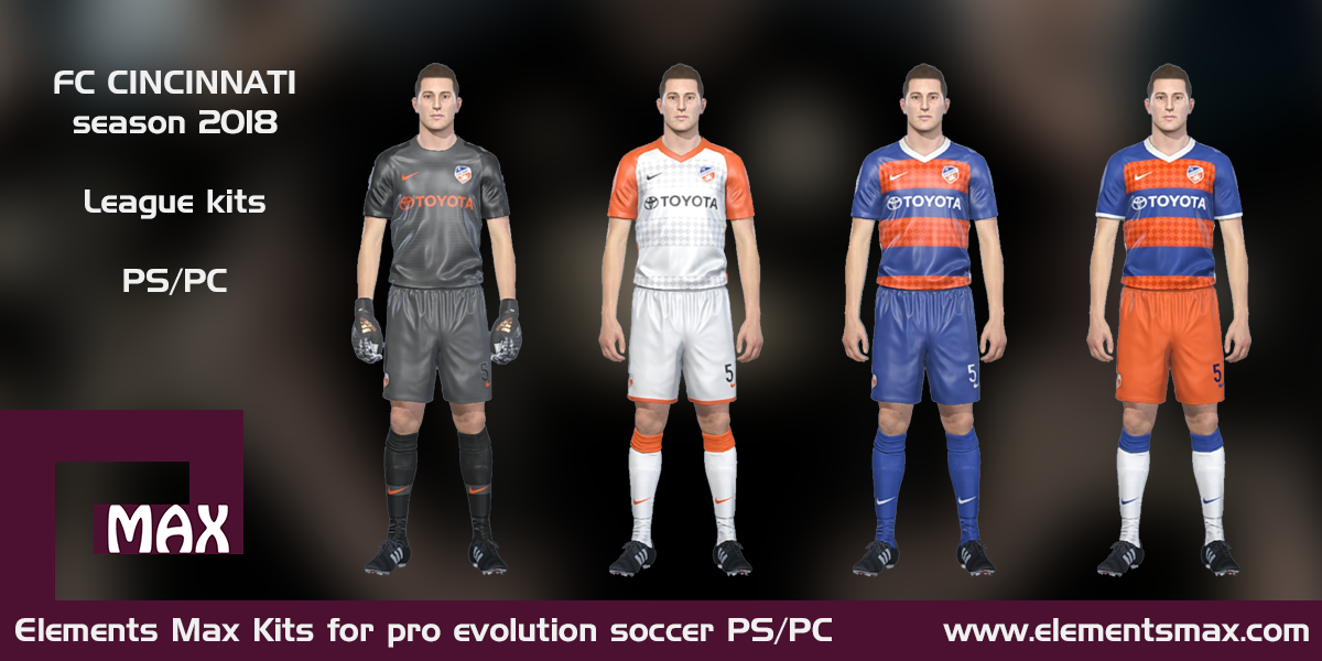 68b2979f4 Elements MAX Kits: FC Cincinnati PES Kits 2018