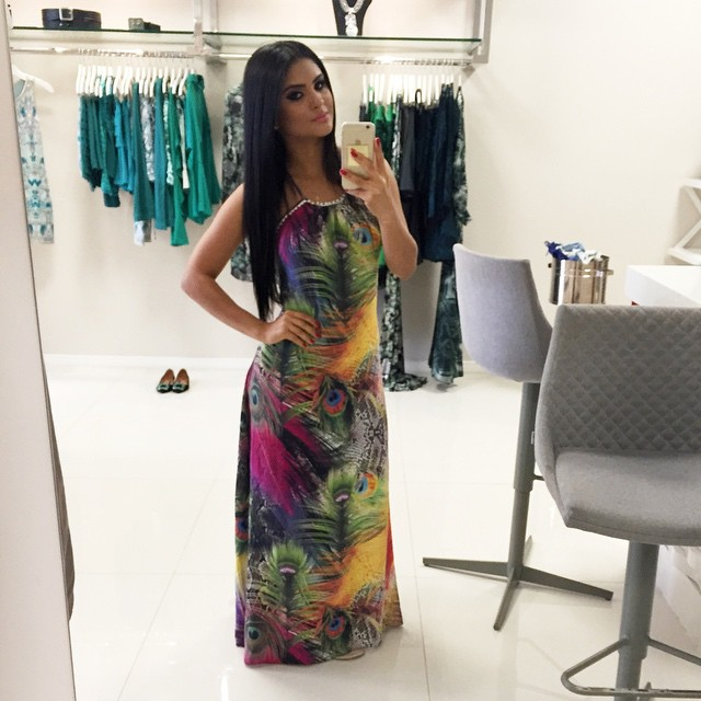 Look de diva: Mileide Mihaile - Vestidos longos e longuetes - vestido estampado