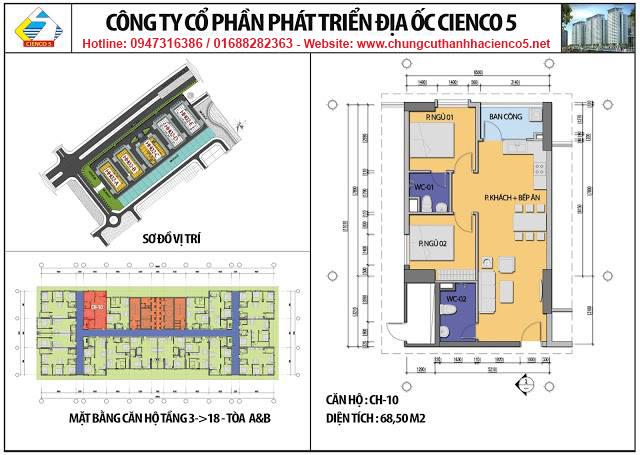 Sơ đồ thiết kế căn 10 chung cư B2.1 HH02A&B Thanh Hà Cienco 5