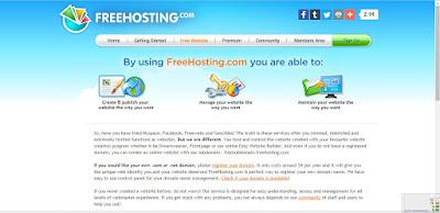 free web hosting terbaik 2018