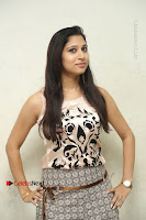 Actress Vanditha Stills in Short Dress at Kesava Movie Success Meet .COM 0075.JPG