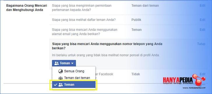 Cara Setting Facebook Agar Tidak Bisa Dilihat Selain Teman