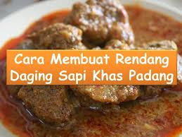 Resep Daging Rendang Padang Mantap