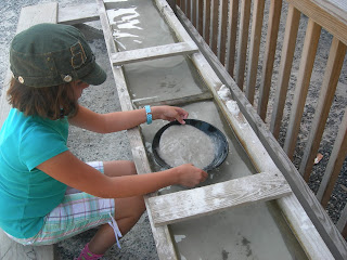 Panning for gold at Tweetsie Railroad