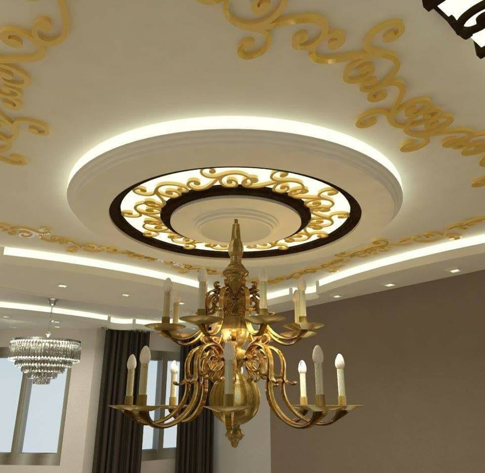 Modern Gypsum Ceiling: 22 Contemporary Modern CNC False Gypsum Ceiling Decorating
