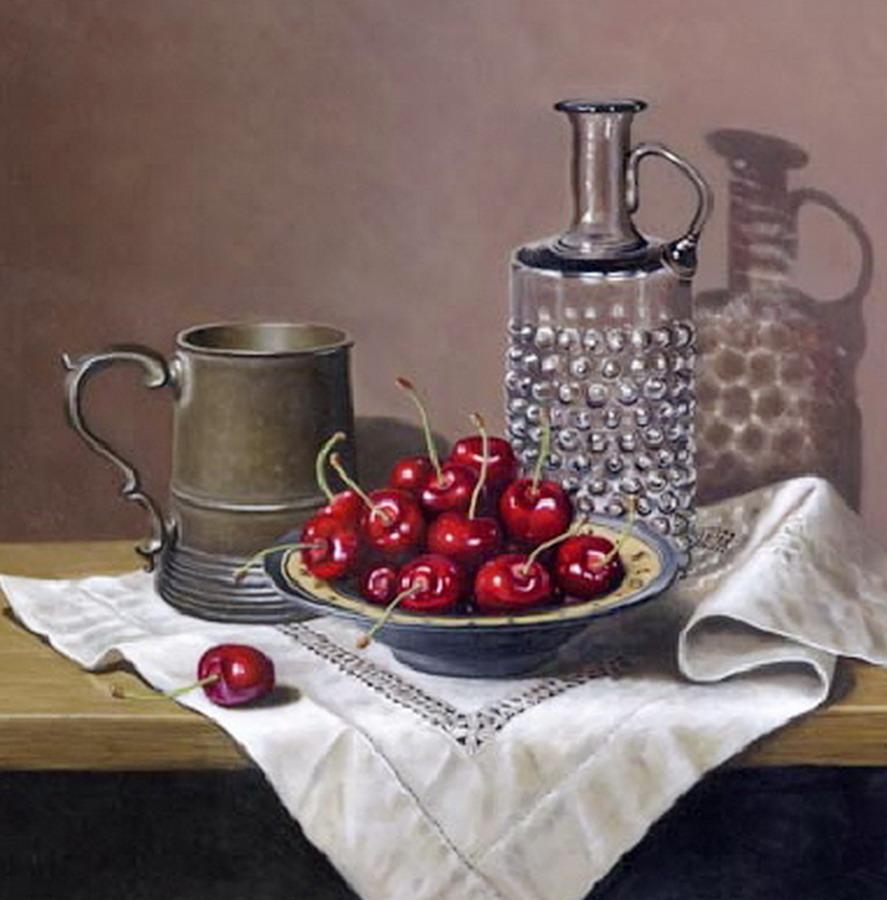 Imgenes Arte Pinturas Manteles y Frutas Sobre Mesa