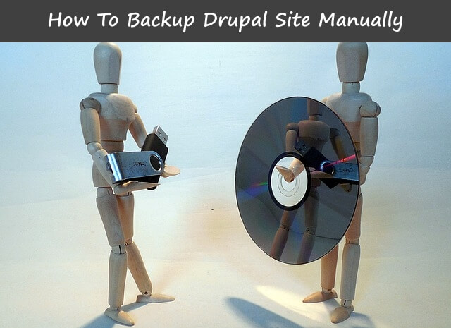How to Backup Drupal site manually