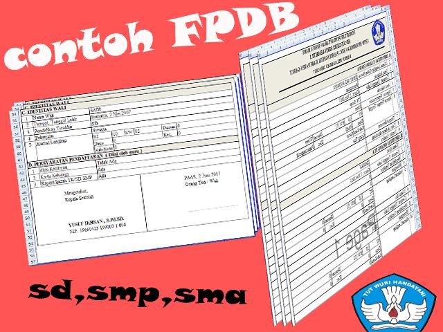 Contoh Cetak Formulir Pendaftaran Siswa Baru ( PPDB )