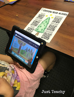 QR Codes, camping theme and activities