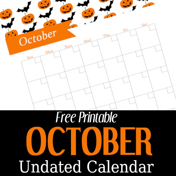 diy home sweet home october undated calendar free printable