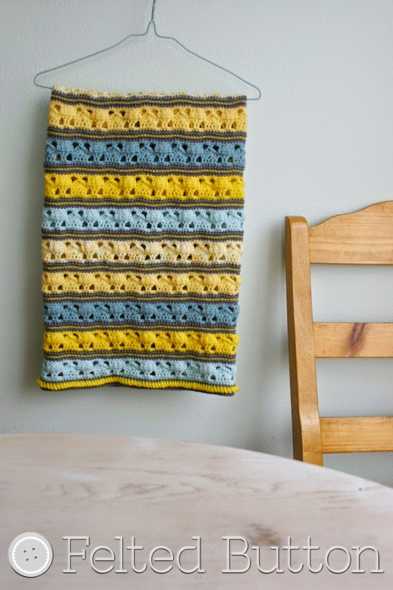 Coming Home Blanket crochet pattern by Susan Carlson (Felted Button)