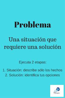 Todo problema puede ser resuelto si se entiende la situación y se ejecuta la solución