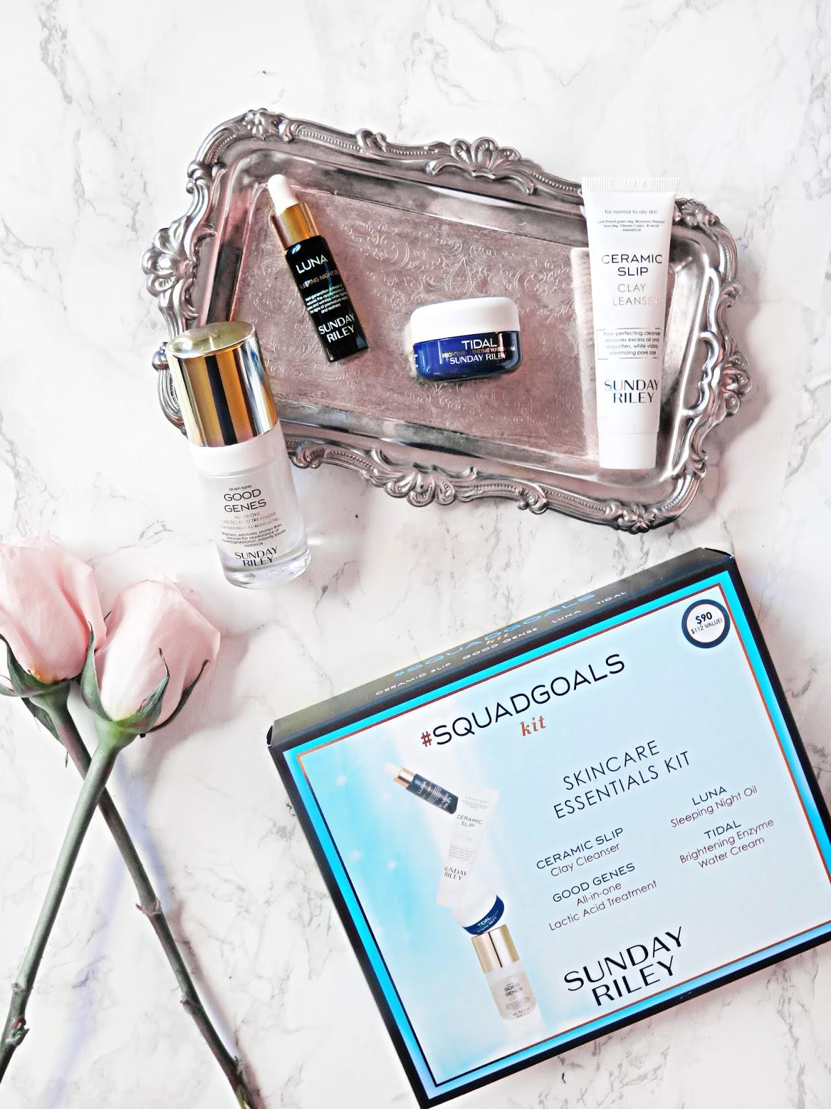 #SkincareGoals | The PERFECT Gift For A Skincare Addict | Sunday Riley #SquadGoals Skincare Essentials Set | labellesirene.ca
