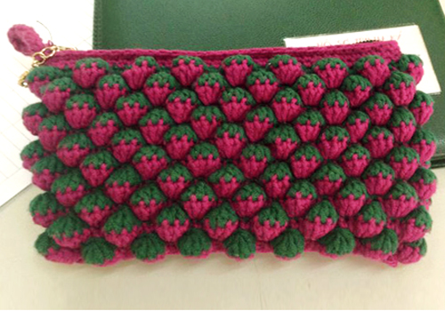 Crochet Strawberry Stitch - Free Diagram