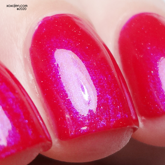 xoxoJen's swatch of 77 Nail Lacquer Eye Candy